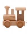 Houten letter trein locomotief
