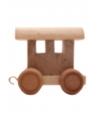 Houten letter trein wagon