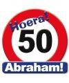 Huldeschild Abraham 50 jaar