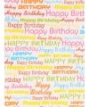 Inpakpapier Happy Birthday 70 x 200 cm