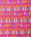 Inpakpapier Happy birthday roze