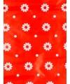 Inpakpapier rood met bloemen 70 x 200 cm