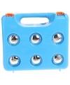 Jeu de Boules set in blauwe kunststof koffer
