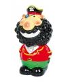 Kapitein Zwartbaard piraten spaarpot 14 cm