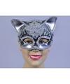 Katten oogmasker met glimmende stenen