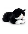 Keel Toys pluche zwarte kat/poes knuffel 35 cm