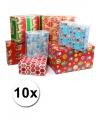 Kerst kadopapier 10 rollen