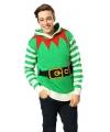 Kersttrui elfen outfit voor volwassenen