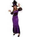 Lange heksenjurk paars voor dames