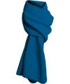 Lange kobalt blauwe fleece sjaal