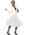 Lange tule petticoat dames wit