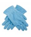 Lichtblauwe kinder fleece handschoenen