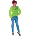 Lime groen pluche dames colbertje