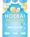 Mega poster Hoera een jongen!