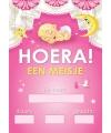 Mega poster Hoera een meisje!