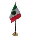 Mexico tafelvlaggetje inclusief standaard