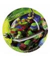 Ninja Turtles papieren bordjes 8 stuks