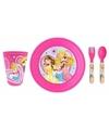 Ontbijtsetje Disney Prinses met 3D bord