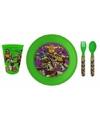 Ontbijtsetje Turtles met 3D bord