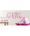 Opblaasletters GIRL geboorte ballonnen