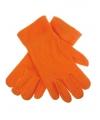 Oranje fleece handschoenen