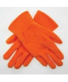 Oranje kinder fleece handschoenen