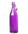 Paarse fles met beugeldop