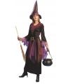 Paarse heksen jurk inclusief hoed