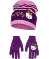 Paarse Hello Kitty winterset
