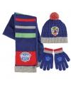 Paw Patrol winter accessoires set blauw voor kinderen
