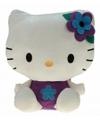 Pluche Hello Kitty knuffel paars 35 cm