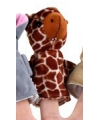 Pluche vingerpopje giraffe