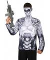 Robot verkleed shirt voor heren