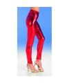 Toppers Rode glimmende legging voor dames