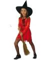 Rode heksenjurk voor meisjes