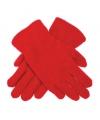 Rode kinder fleece handschoenen