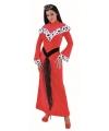 Rode koninginnen jurk