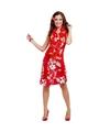 Rood Hawaii jurkje met accessoires