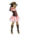 Roze dames musketiers jurk