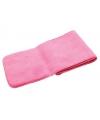 Roze kinder fleece sjaal 112 cm