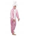 Roze konijn / haas kostuum voor heren