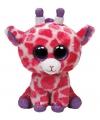 Roze Ty beanie knuffel giraffe 24 cm