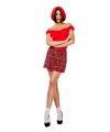 Schotse rok met rode ruit voor dames