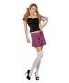 Schotse rok met roze ruit voor dames