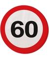 Servetten verkeersbord 60 jaar