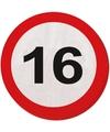 Servetten verkeersborden 16 jaar