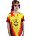 Sixties t-shirt rainbow voor kinderen