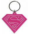 Sleutelhanger Supergirl roze