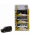 Speelgoed auto witte Land Rover 20 cm