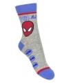 Spiderman jongens sokken grijs type 2